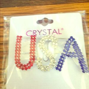 Jewelry - USA pin in red white and blue